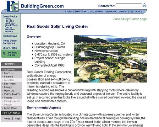 New resources from buildinggreen buildinggreen for Green building articles
