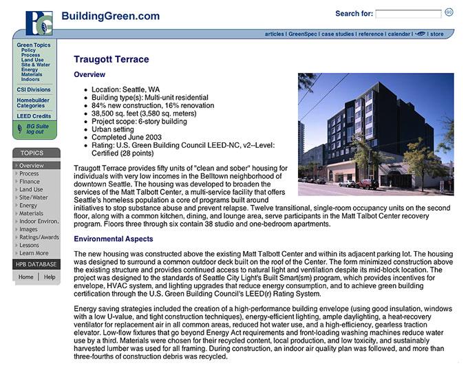 Buildinggreen publishes its 100th case study buildinggreen for Green building articles