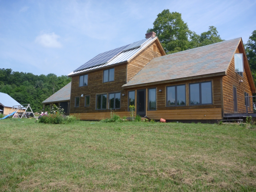 High SHGC, Triple Glazed, South Facing Windows Were Used To Improve The  Direct Gain Passive Solar Performance. Click On Image To Enlarge.