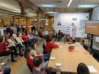 International Women's Day gathering at Opsis Architecture