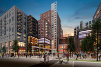 architectural rendering of new mixed-use development in Alexandria, Virginia