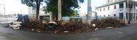 Debris piled up in San Juan, Puerto Rico after Hurricane Maria.