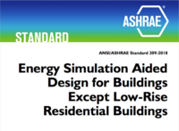 ASHRAE 209 advocates for starting energy modeling early to enhance energy efficiency.