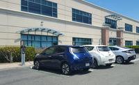 Cars at a charging station