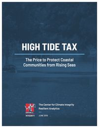 High Tide Tax report cover from Center for Climate Integrity