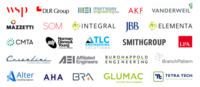 Logos of the 24 firms that have signed onto the electrification equipment letter.