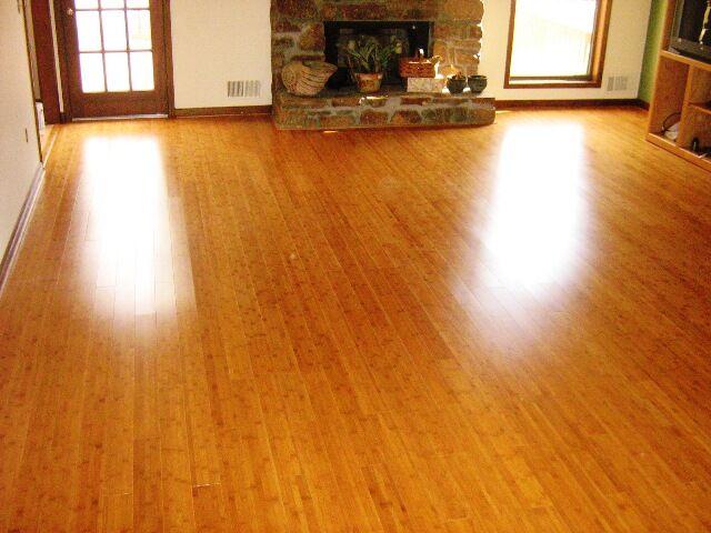 a bamboo floor