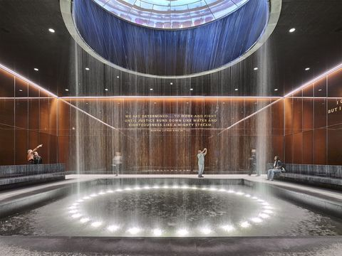 Interior of the National Museum of African American History and Culture