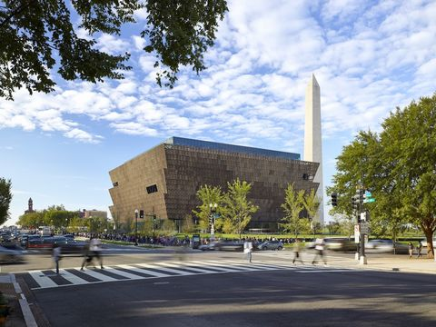 Exterior of the National Museum of African American History and Culture