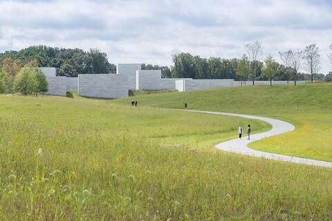 Glenstone museum meadow approach