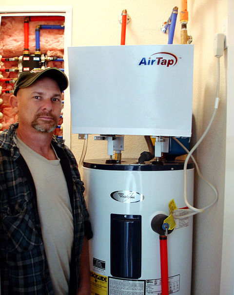 Standard Ings And Simple Connections Are Used To Install An Airtap Heat Pump Unit Onto A Electric Or Gas Fired Water Heater