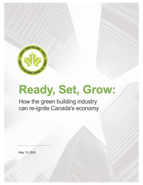 cover of green recovery report