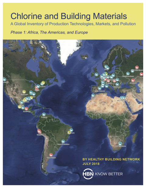 Cover of a new Healthy Building Network report on the toxic impacts of PVC and other plastics