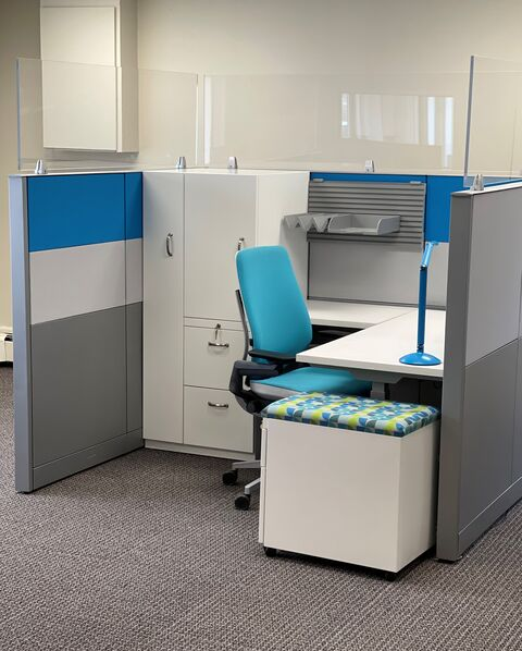 Davies Office low-embodied energy remanufactured furniture promotes circular economy.