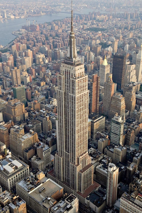 Photo of the Empire State Building, New York City.  Energy grades in NYC will have to be posted near building entrances.