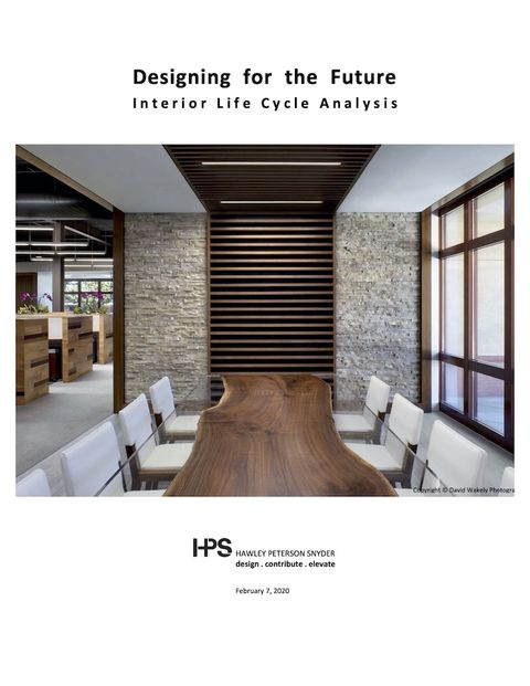cover of report on interior life-cycle analysis