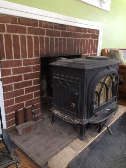 Photo of the wood stove