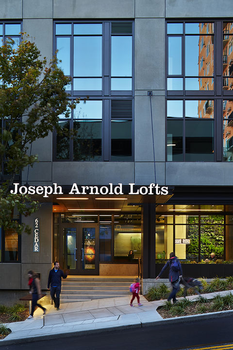 Joseph Arnold Lofts, a residential high-rise building, earned three Green Globes.