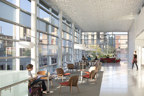 Daylighting at the Madison Central Public Library.