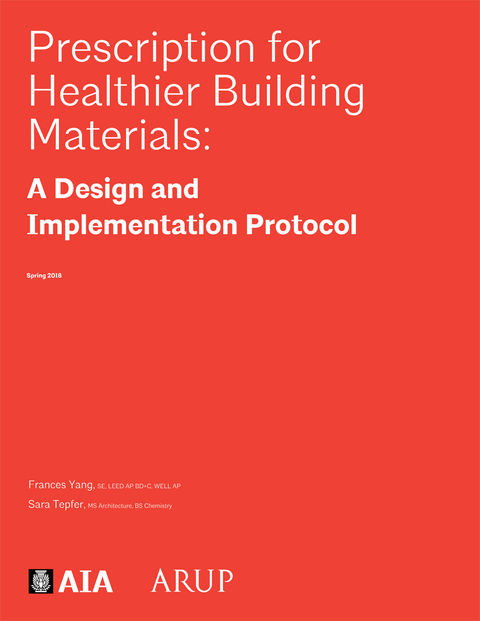 """Cover of """"Healthier Building Materials: A Design and Implementation Protocol"""