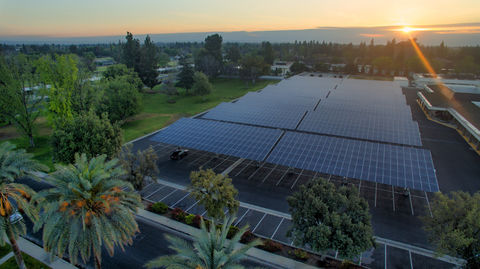Sunpower carports provide renewable energy and maximize space.
