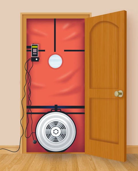 Illustration Peter Harris Blower doors are variable-speed fans that ... & How Blower-Door Tests Measure Airtightness | BuildingGreen