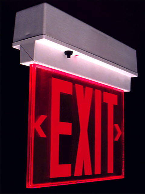 The Evolution of Exit Signs (and Why the Latest is a Bad Idea
