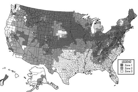 Radon and other soil gases dealing with the hazards from below epa map of radon zones sciox Image collections