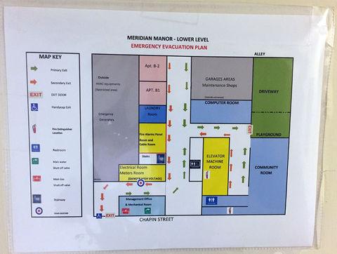 Meridian Manor's evacuation plan in Washington, D.C.