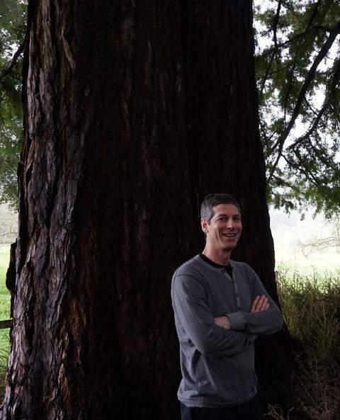 Nadav Malin, Hon. AIA, among the redwoods