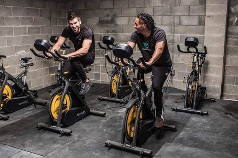 Spin classes at Sacramento Eco Fitness generate electricity thanks to Eco-Powr cycles by SportsArt.