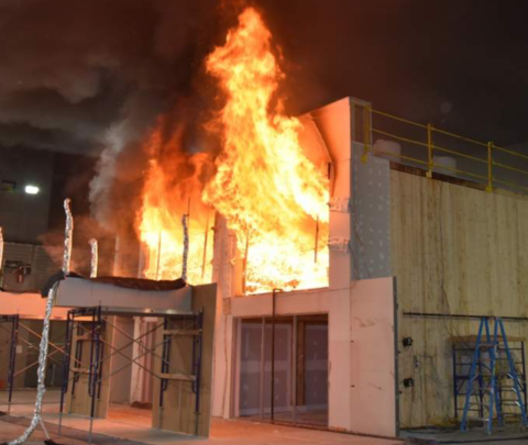 Fire test conducted by the Tall Wood Ad Hoc Committee of the ICC