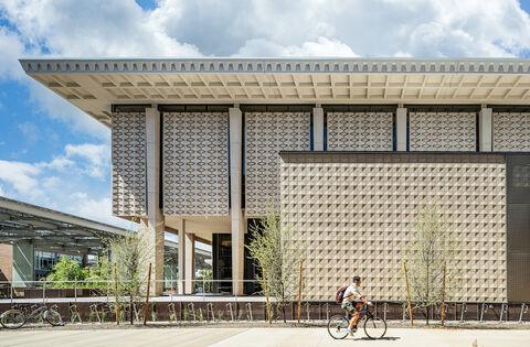 exterior of Hayden Library at ASU
